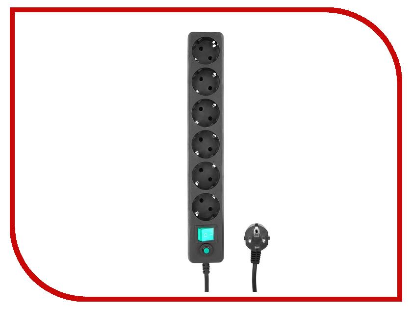 Сетевой фильтр Гарнизон 6 Sockets 1.8m EHB-6