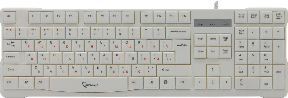 Клавиатура Gembird KB-8352U USB White calipso 362 02 th 01 kb