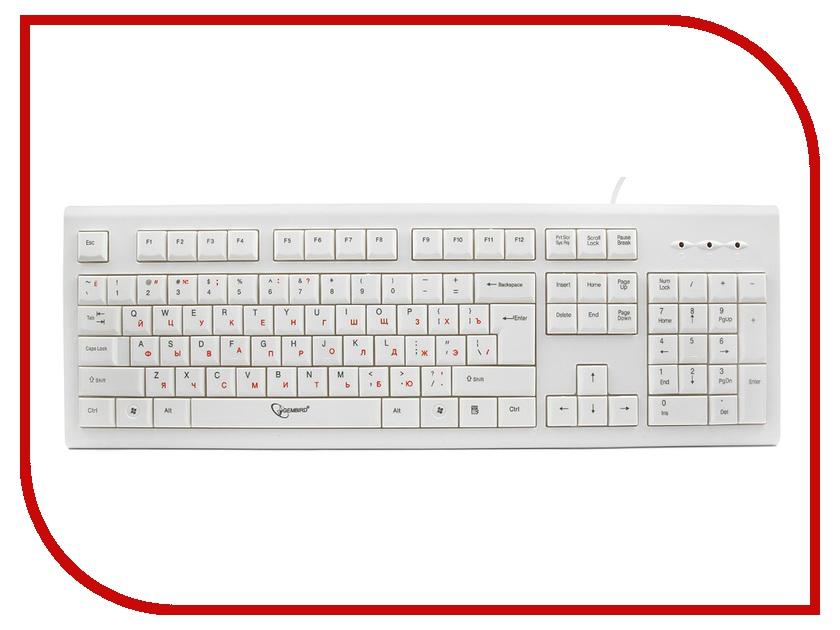 Клавиатура Gembird KB-8353U USB White игровые коврики funkids алфавит 1 kb 007r nt