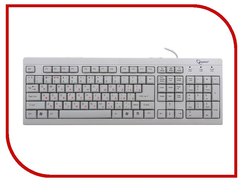 Клавиатура Gembird KB-8300-R PS/2 Beige