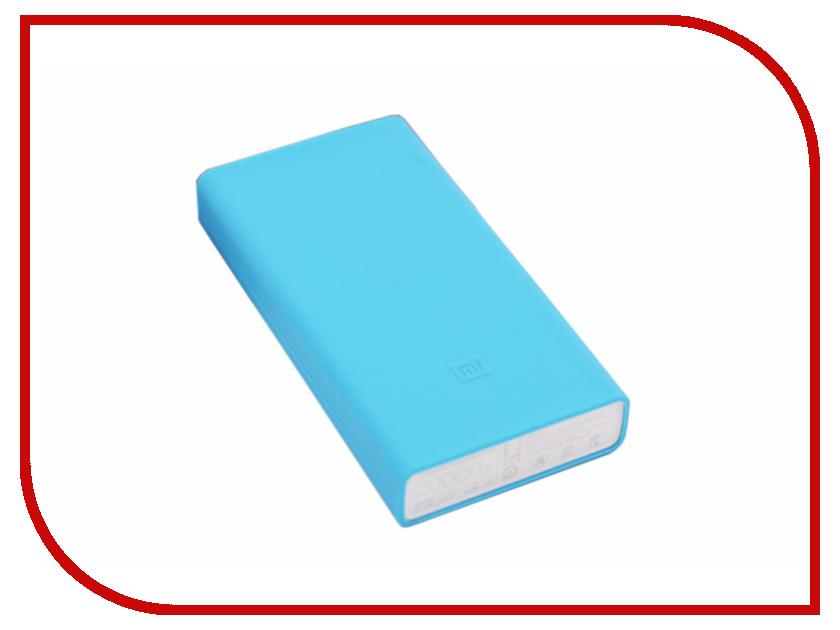 Аксессуар Чехол Xiaomi Silicone Case for Power Bank 2 20000mAh Blue op 2 diy usb 2 x 18650 battery external power bank case w led indicator yellow grey 5v