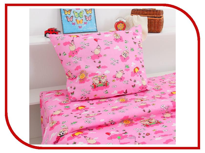 Постельное белье Экономь и Я Розовые Овечки Комплект 1.5 спальный Бязь 2394238
