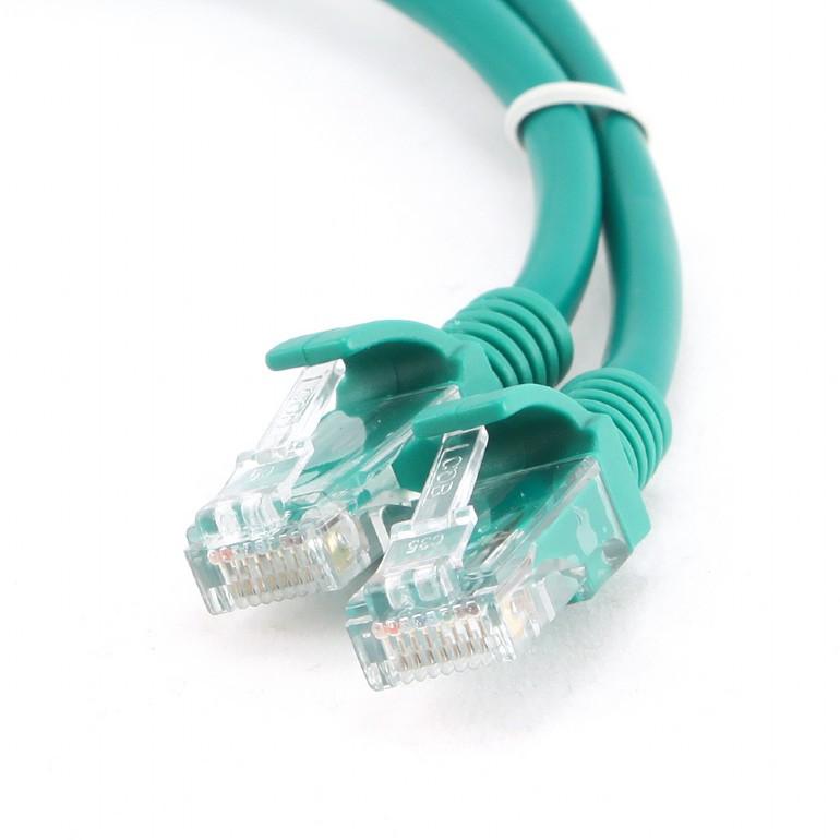 Сетевой кабель Gembird Cablexpert UTP cat.5e 1m Green PP12-1M/G