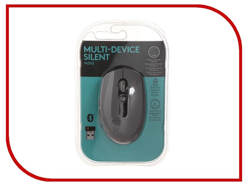 Мышь Logitech M590 Grey USB 910-005198 мышь беспроводная logitech m590 серый usb 910 005198