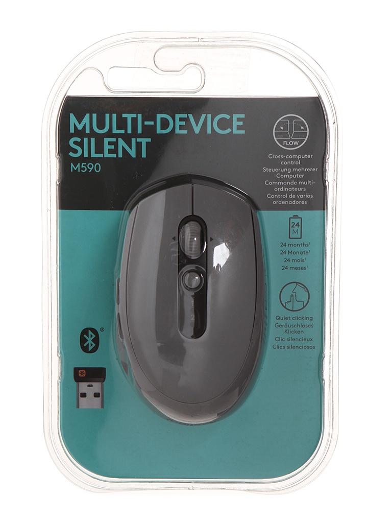Мышь Logitech M590 Grey USB 910-005198