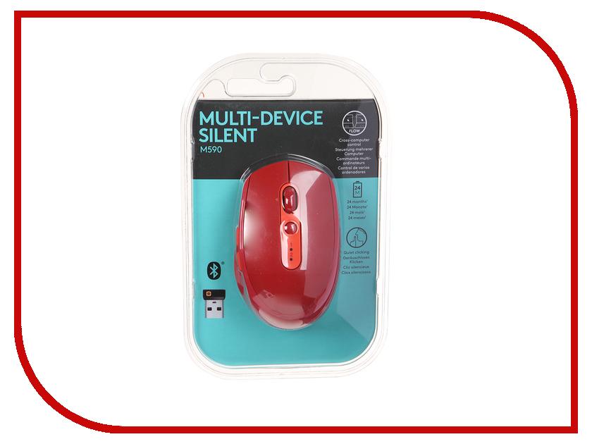 Мышь Logitech M590 Red USB 910-005199 мышь беспроводная logitech m590 серый usb 910 005198