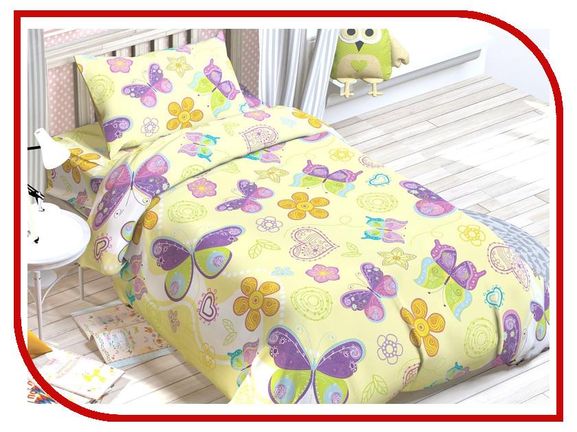 Постельное белье Этель Этелька Бабочки Комплект 1.5 спальный Хлопок-Бязь 1318199