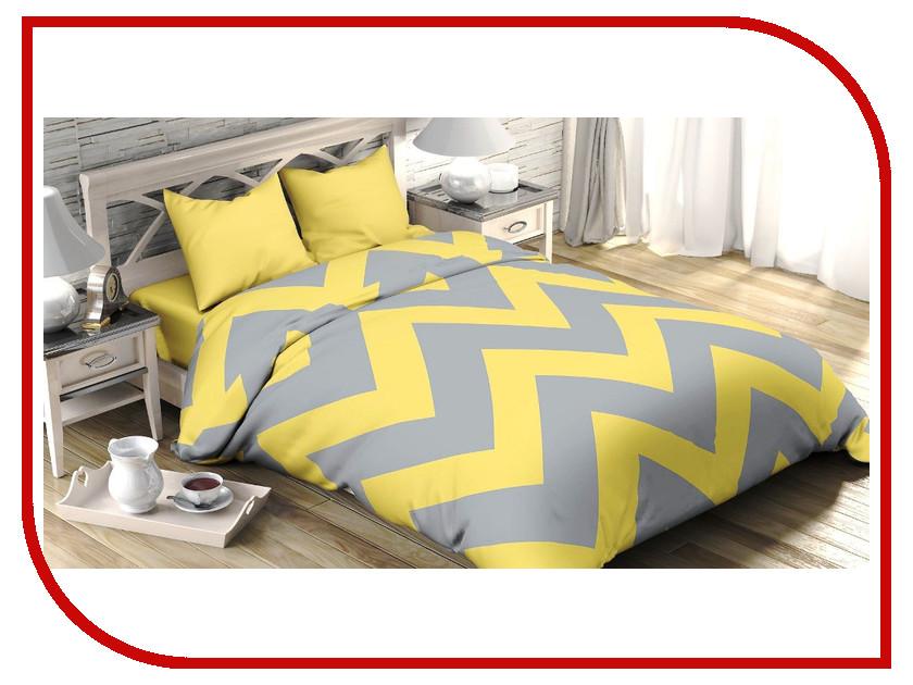 Постельное белье Этель Жёлтый Шеврон Комплект 2 спальный Поплин 2565787