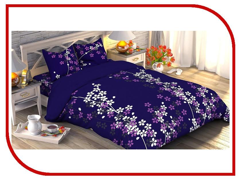 Постельное белье Этель Черничные ночи Комплект 2 спальный Хлопок-Поплин 1534734
