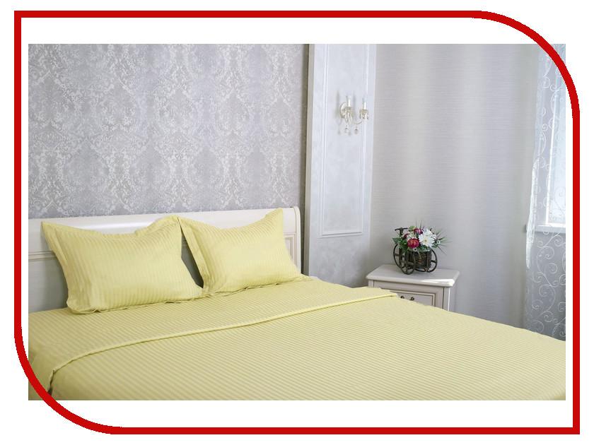 Постельное белье Этель Basic Комплект Евро Olive Страйп-Сатин 1551475