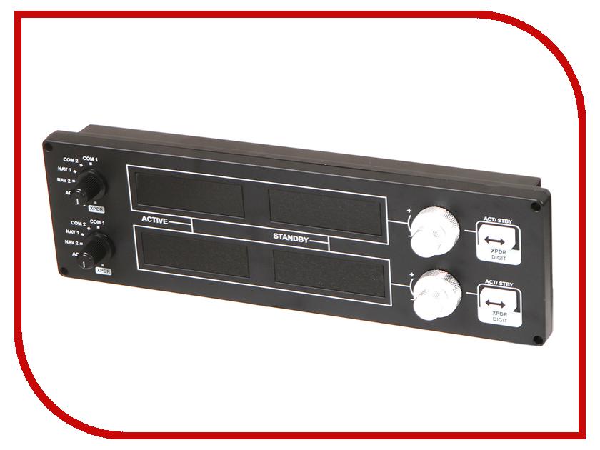 панель для джойстика saitek pro flight tpm system scb432060002 04 1 Приборная панель Logitech G Saitek Pro Flight Radio Panel Black USB 945-000011