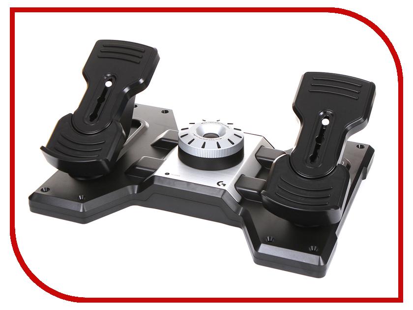 Педали для авиасимуляторов Logitech Saitek PRO Flight Rudder Pedals 945-000005 блок переключателей для авиасимуляторов logitech g saitek pro flight switch panel 945 000012