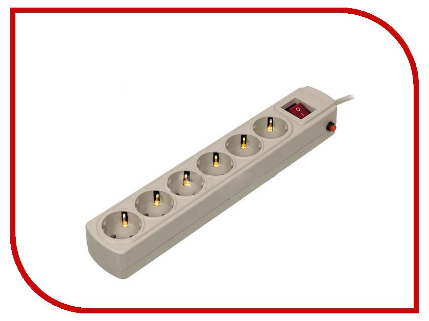 Сетевой фильтр Ippon BK-112 6 Sockets 1.8m White сетевой фильтр ippon bk232 3м черный