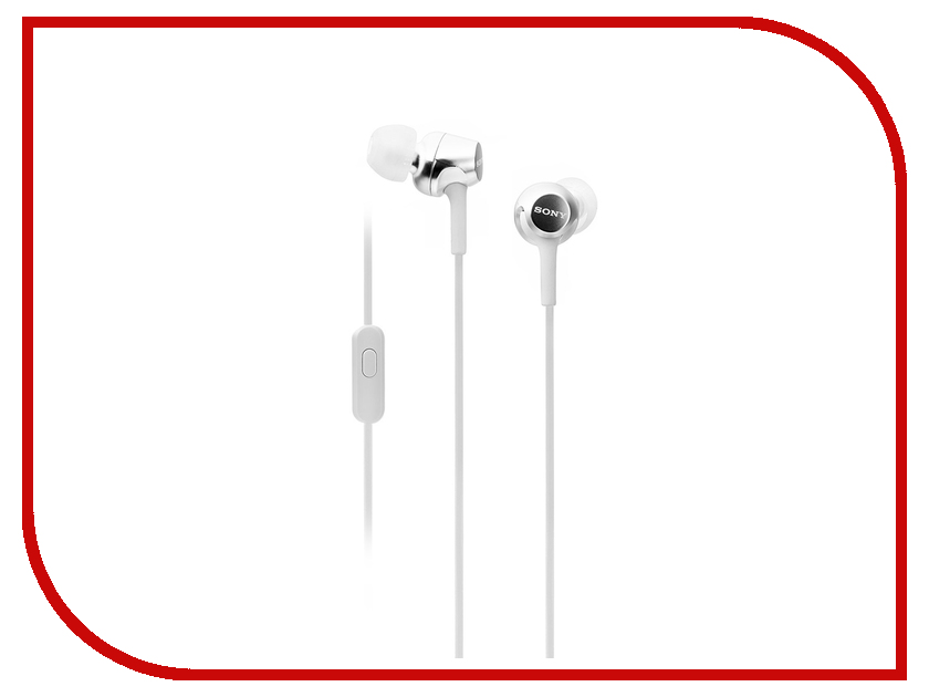 Sony MDR-EX155AP White настенная плитка impronta ceramiche square wall bianco graffio 25x75