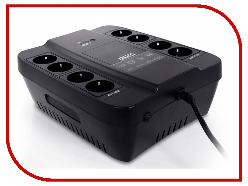 Источник бесперебойного питания Powercom Spider SPD-850N Black источник бесперебойного питания powercom spider spd 850n spd 850n