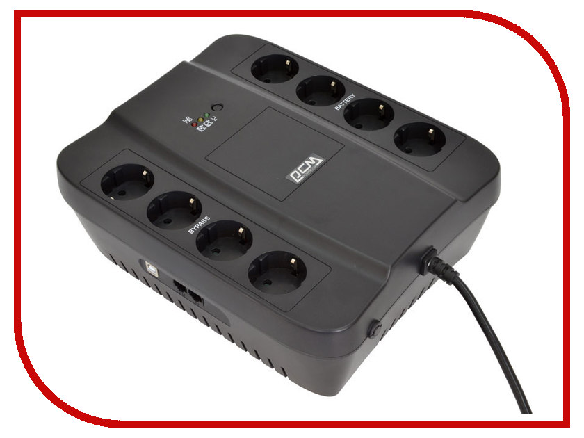 Источник бесперебойного питания Powercom Spider SPD-650E Black люстры споты потолочные