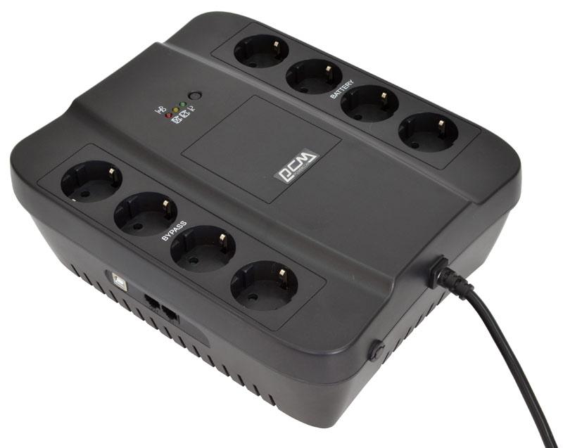 Источник бесперебойного питания Powercom SPD-1000U Black источник бесперебойного питания powercom spider spd 850e 510вт 850ва черный