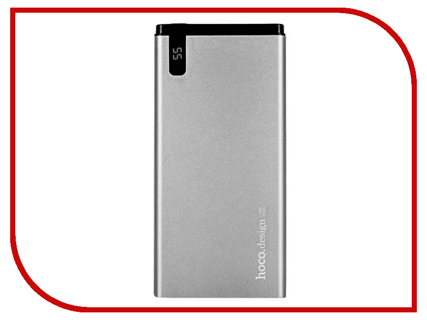 Аккумулятор HOCO B25 Hanbeck 10000mAh Grey аккумулятор hoco b12b wood grain 13000mah grey oak