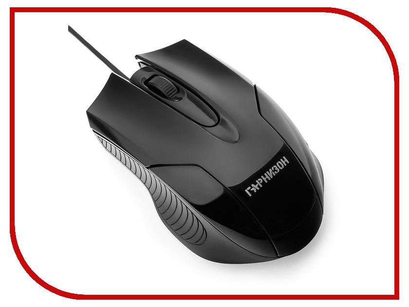 Мышь Гарнизон GM-210 Black мышь гарнизон gm 740g black