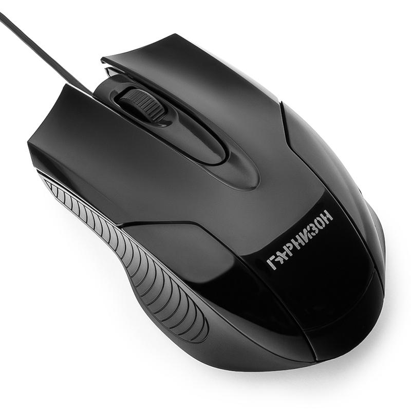 Мышь Гарнизон GM-210 Black мышь гарнизон gm 710g black
