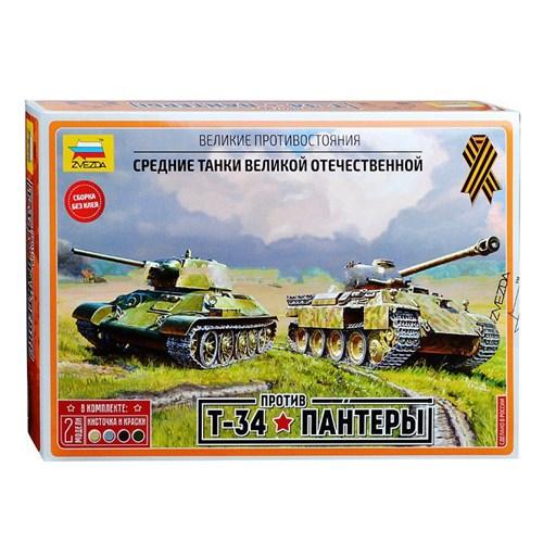 Сборная модель Zvezda Великие противостояния Т-34 против Пантеры 5202