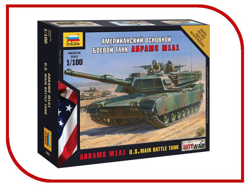 Сборная модель Zvezda Американский осн. боевой танк Абрамс М1А1 7405