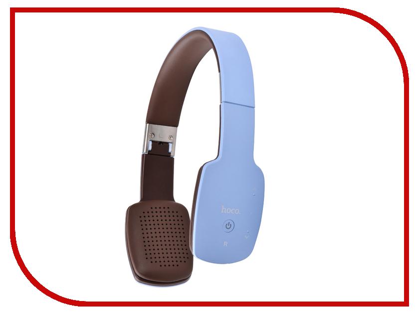 гарнитуры hoco спортивная bluetooth гарнитура hoco e11 tarnish Гарнитура HOCO W4 Blue 73296