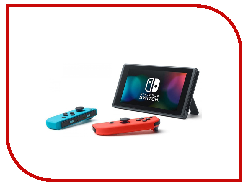 Игровая приставка Nintendo Switch Red-Blue + Mario Kart 8 Deluxe