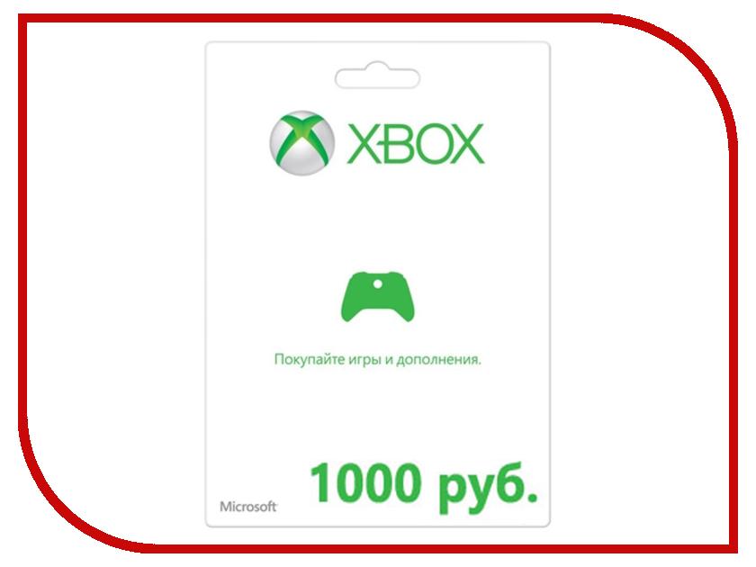 Карта оплаты Microsoft XBOX Live 1000р K4W-00119 / K4W-03074 карта видеозахвата avermedia live gamer portable
