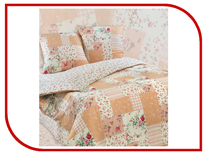 Постельное белье Экзотика Кантри Комплект 2 спальный Поплин постельное белье экзотика светлана комплект 2 спальный поплин