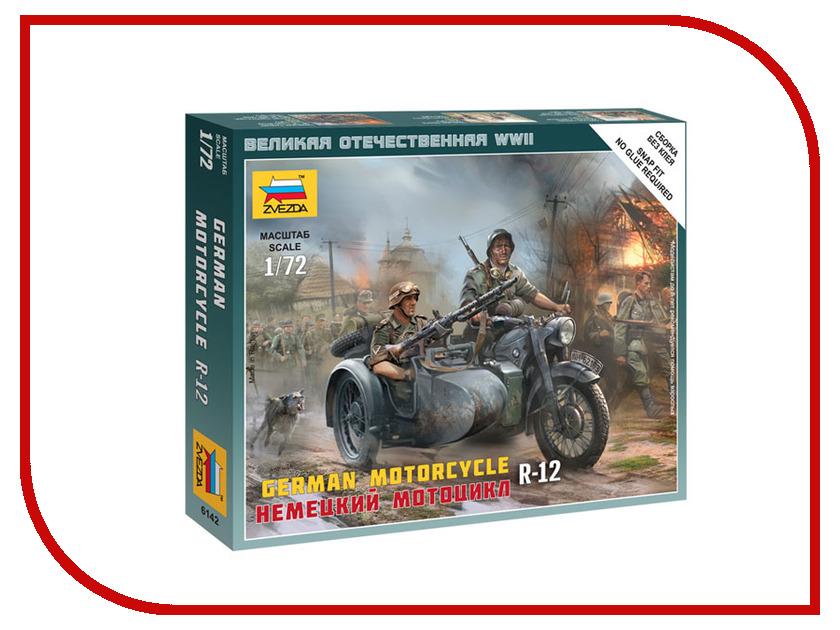 Сборная модель Zvezda Немецкий мотоцикл R-12 6142