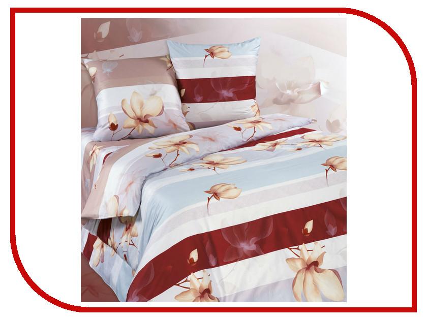 Постельное белье Экзотика Цикламен Комплект 1.5 спальный Поплин