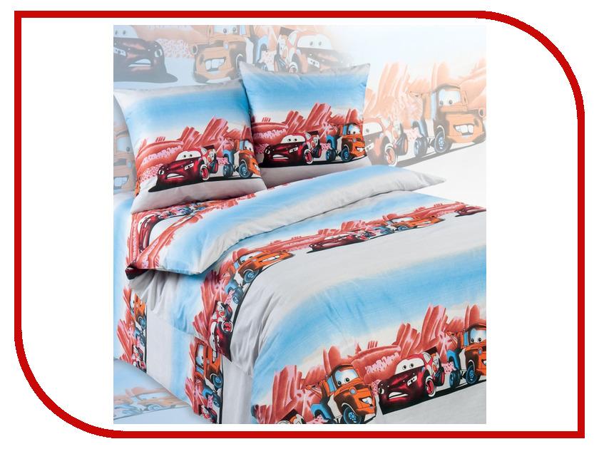 Постельное белье Экзотика Тачки Комплект 1.5 спальный Поплин постельное белье эго комплект 1 5 спальный полисатин