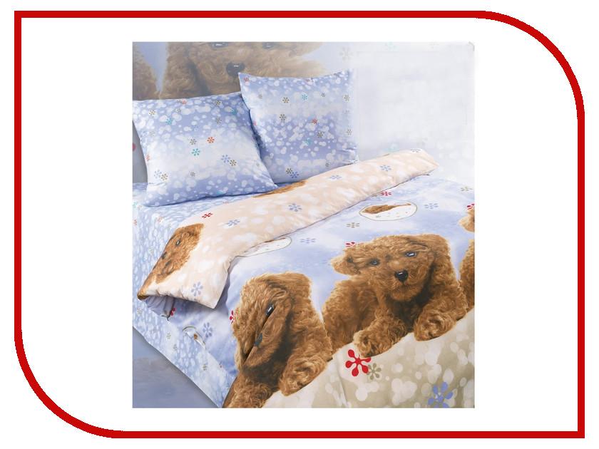 Постельное белье Экзотика 387 Комплект 1.5 спальный Поплин