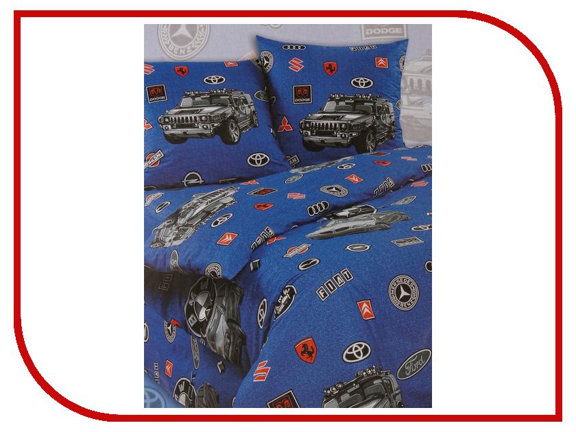 Постельное белье Экзотика 14 Комплект 1.5 спальный Поплин