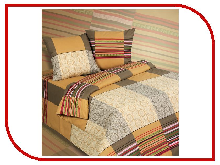 Постельное белье Экзотика 531 Комплект 2 спальный, простыня на резинке Поплин