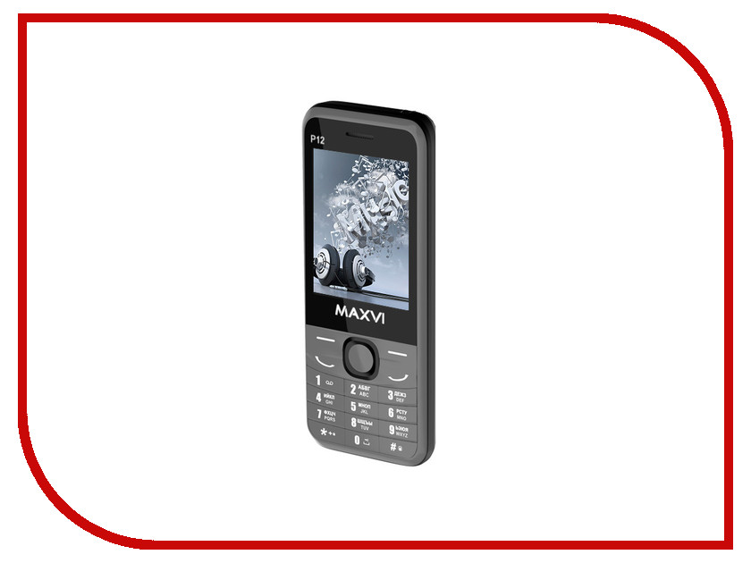Сотовый телефон Maxvi P12 Grey сотовый телефон maxvi x850 gold