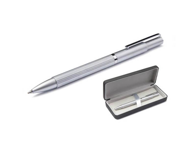 Ручка шариковая Scrinova Canelli корпус Chrome, стержень Black 80416