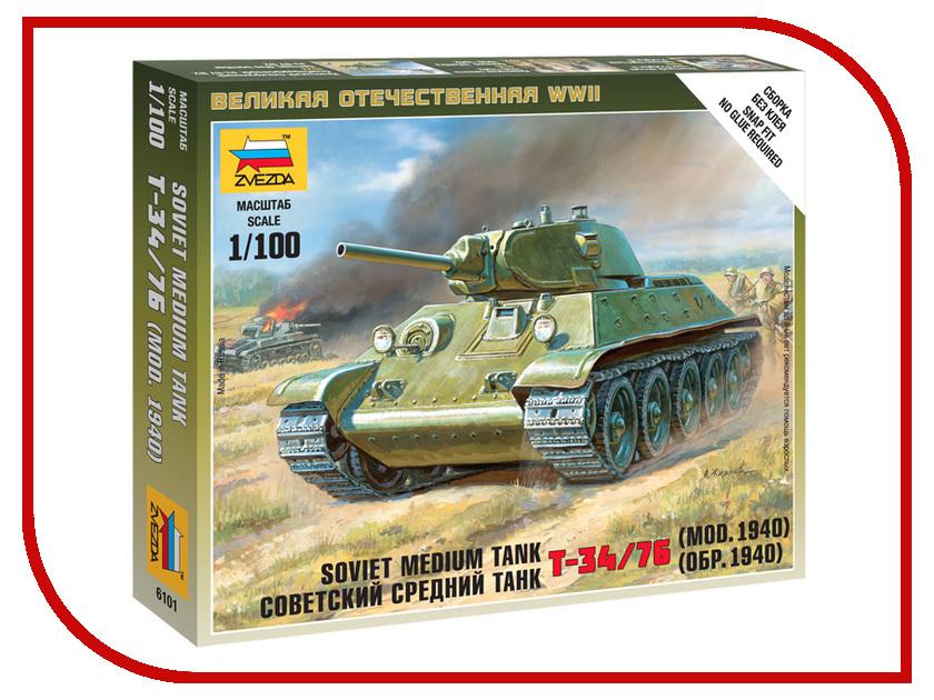 Сборная модель Zvezda Советский средний танк Т-34/76 1940г 6101