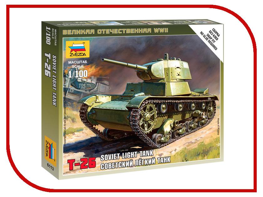 Сборная модель Zvezda Советский легкий танк Т-26 6113