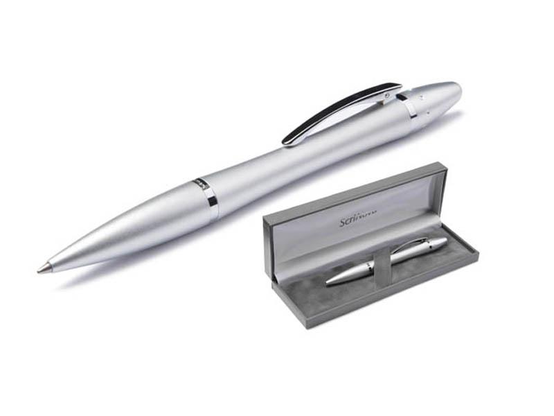 Ручка шариковая Scrinova Premium Lady корпус Chrome, стержень Black 89116