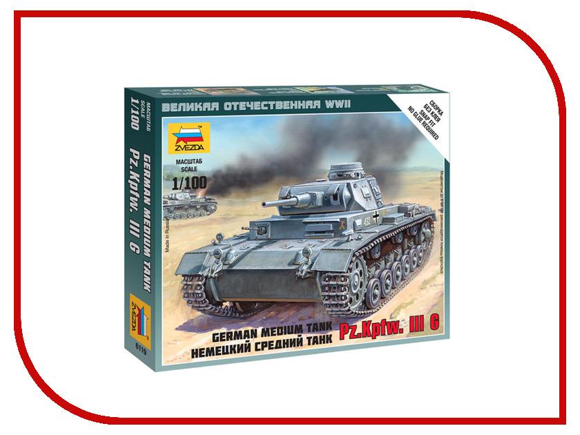 Сборная модель Zvezda Немецкий средний танк Pz.Kp.fw.III G 6119