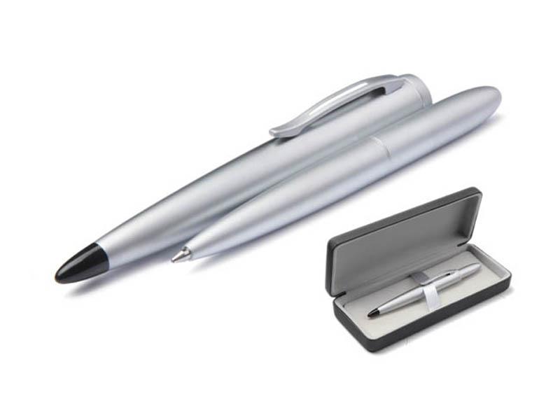 Ручка шариковая Scrinova Compact корпус Chrome, стержень Black 85816