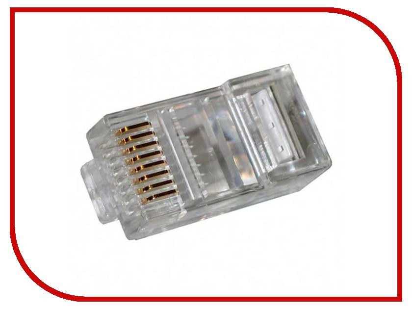 Коннектор Gembird RJ45 UTP PLUG3UP6/5 - 100шт cтяжка пластиковая gembird nytfr 150x3 6 150мм черный 100шт
