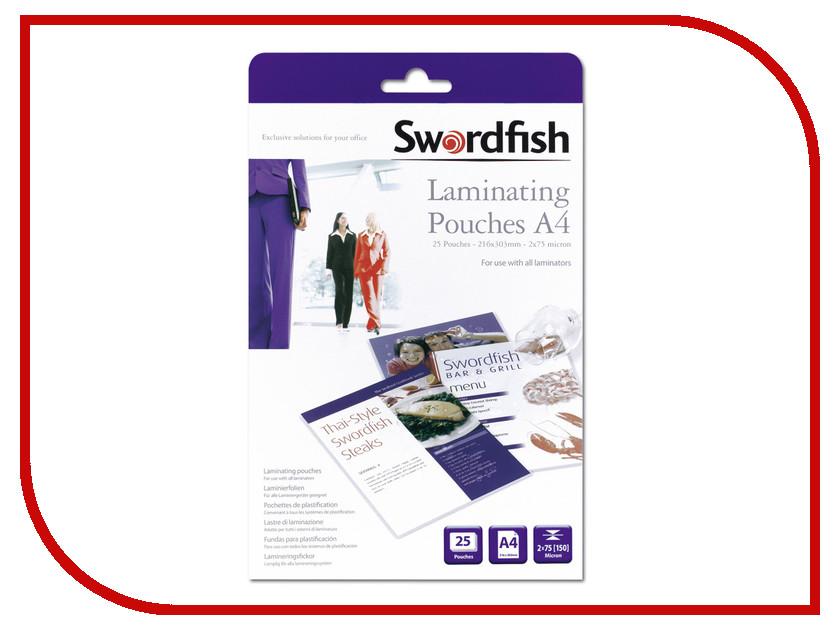 Пленка для ламинатора Swordfish А4 2x75 мкр 25шт SF48018