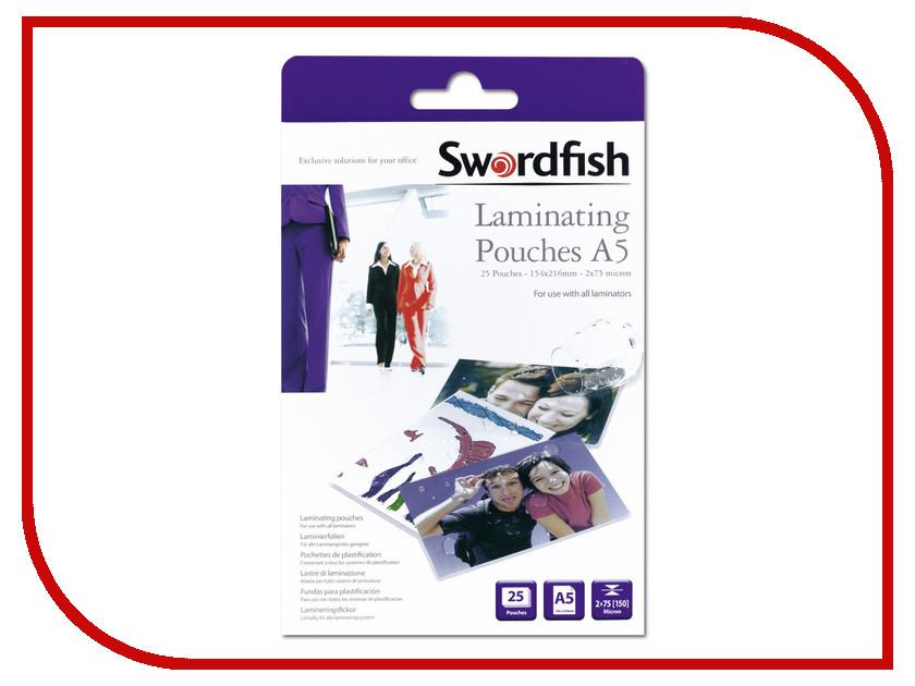 Пленка для ламинирования Swordfish А5 2x75 мкр 25шт SF48020