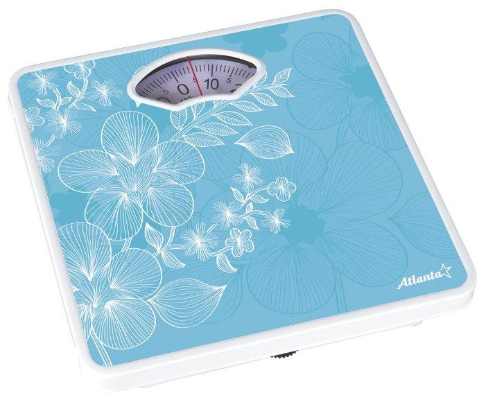 Весы напольные Atlanta ATH-6100 Light-Blue напольные весы atlanta ath 6100 rd