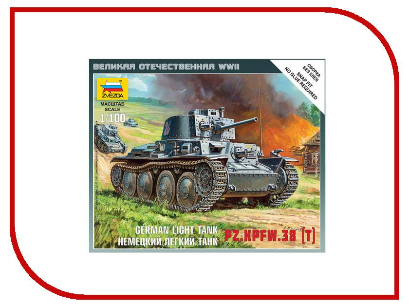 Сборная модель Zvezda Немецкий лёгкий танк Т-38 6130 звезда сборная модель немецкий средний танк pz iv ausf d