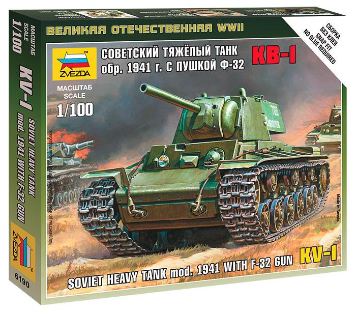 Сборная модель Zvezda Советский танк КВ-1 с пушкой Ф32 6190