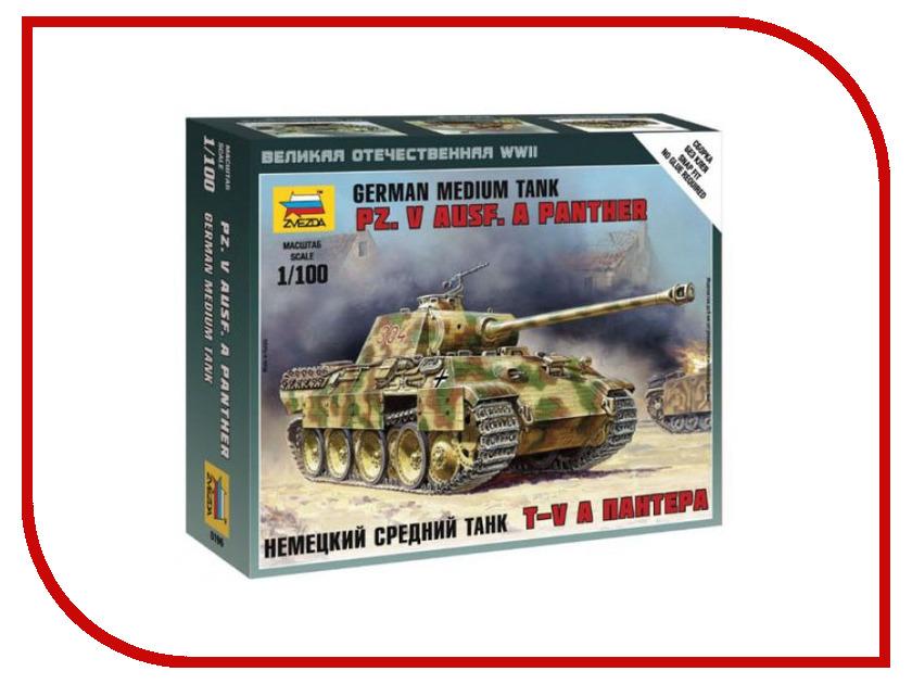 Сборная модель Zvezda Немецкий средний танк Т-V A Пантера 6196
